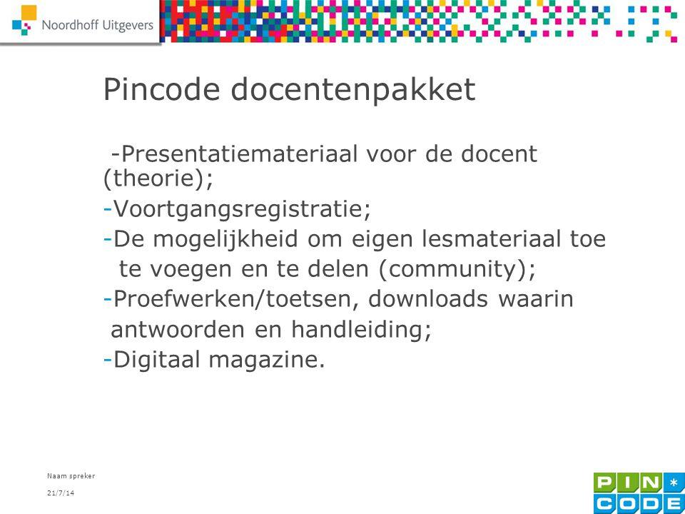 Pincode docentenpakket