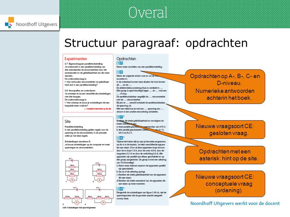 Structuur paragraaf: opdrachten
