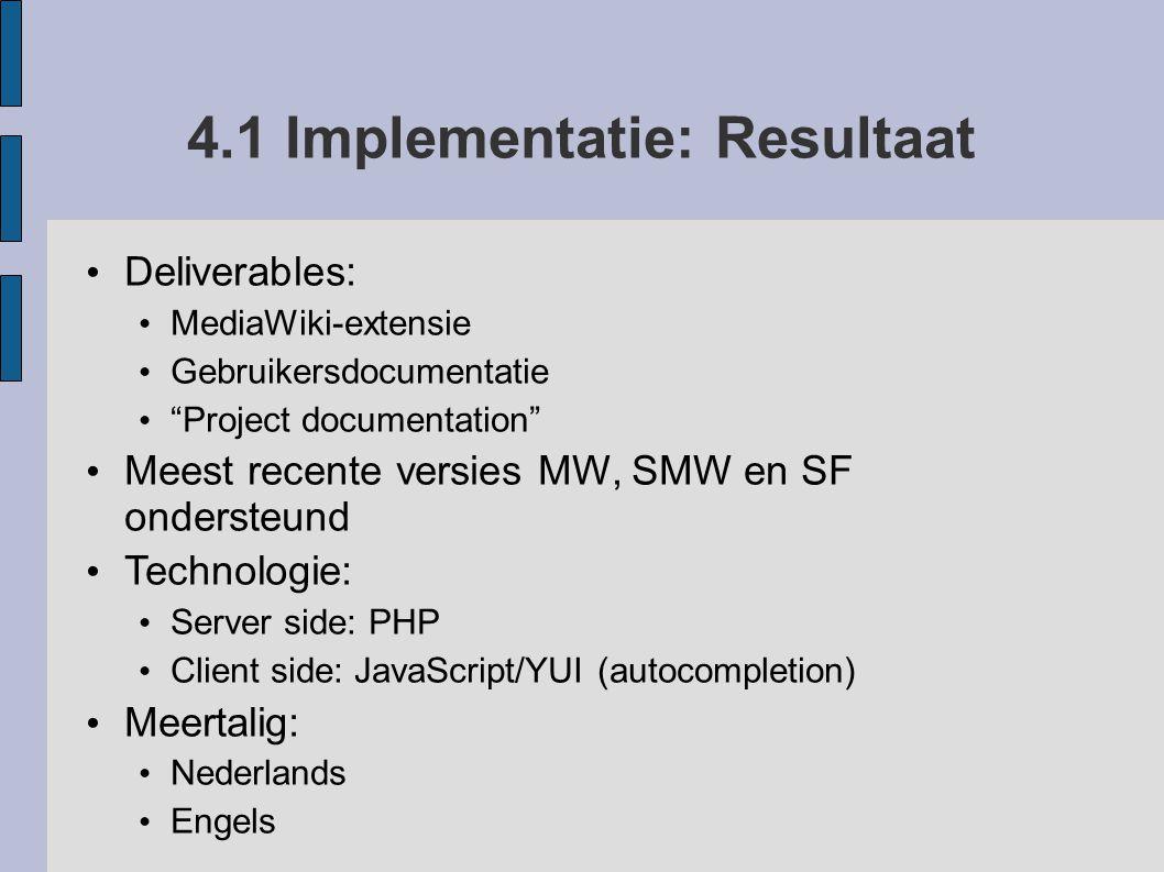 4.1 Implementatie: Resultaat