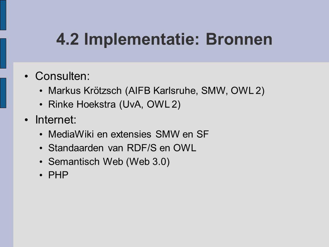 4.2 Implementatie: Bronnen