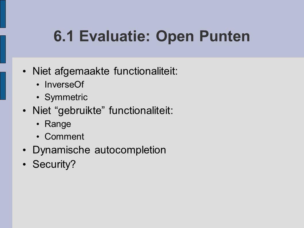 6.1 Evaluatie: Open Punten
