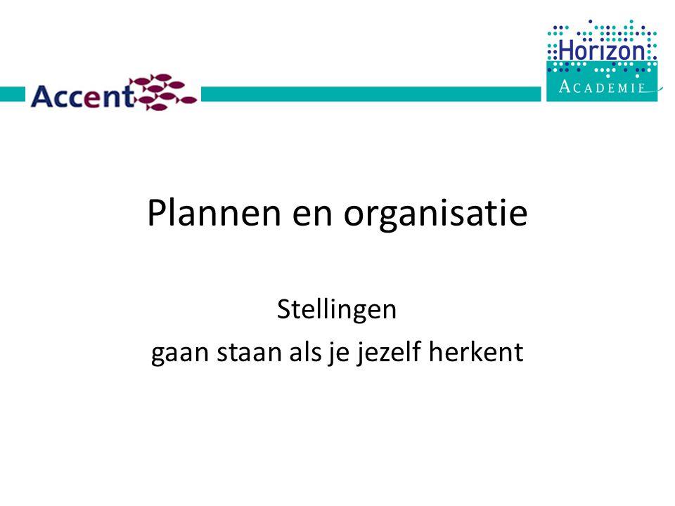 Plannen en organisatie