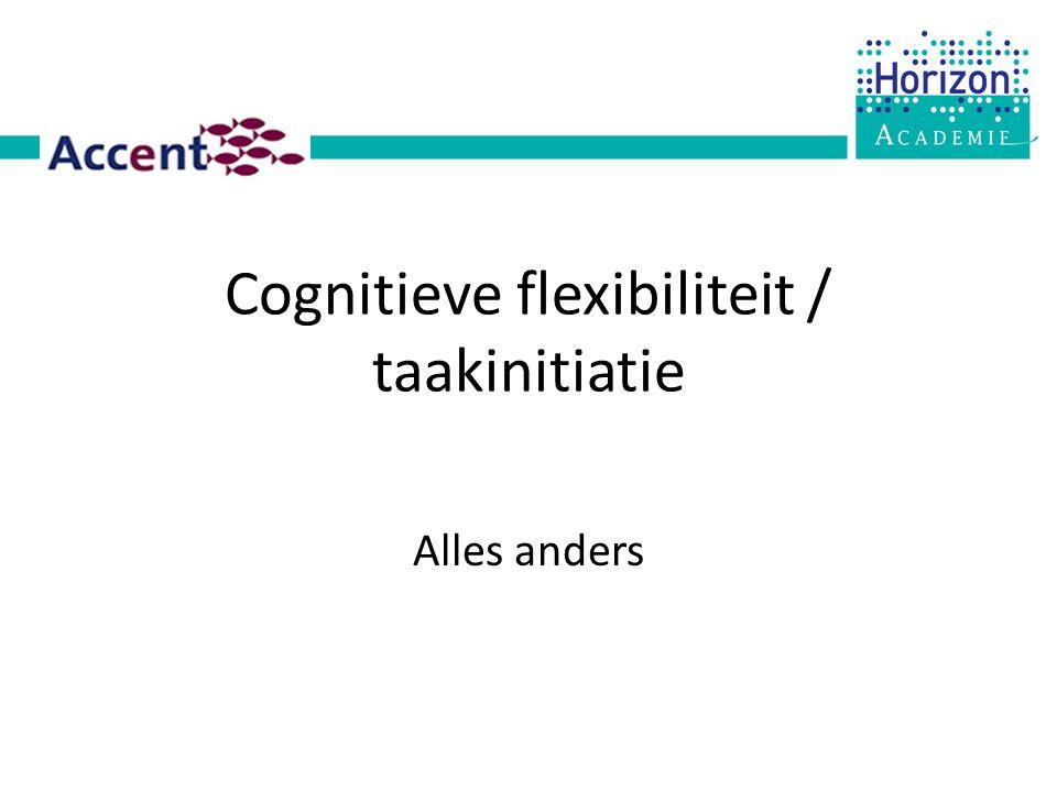 Cognitieve flexibiliteit / taakinitiatie