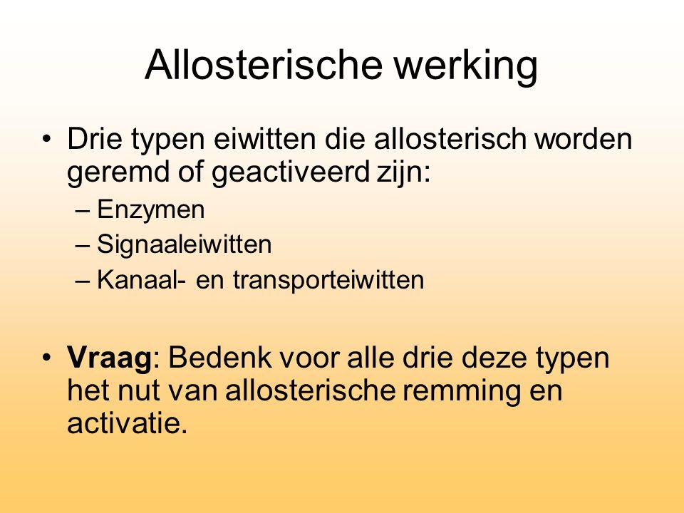 Allosterische werking