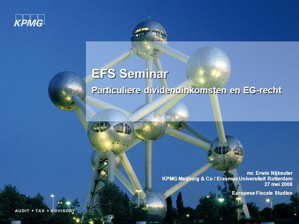 EFS Seminar Particuliere dividendinkomsten en EG-recht