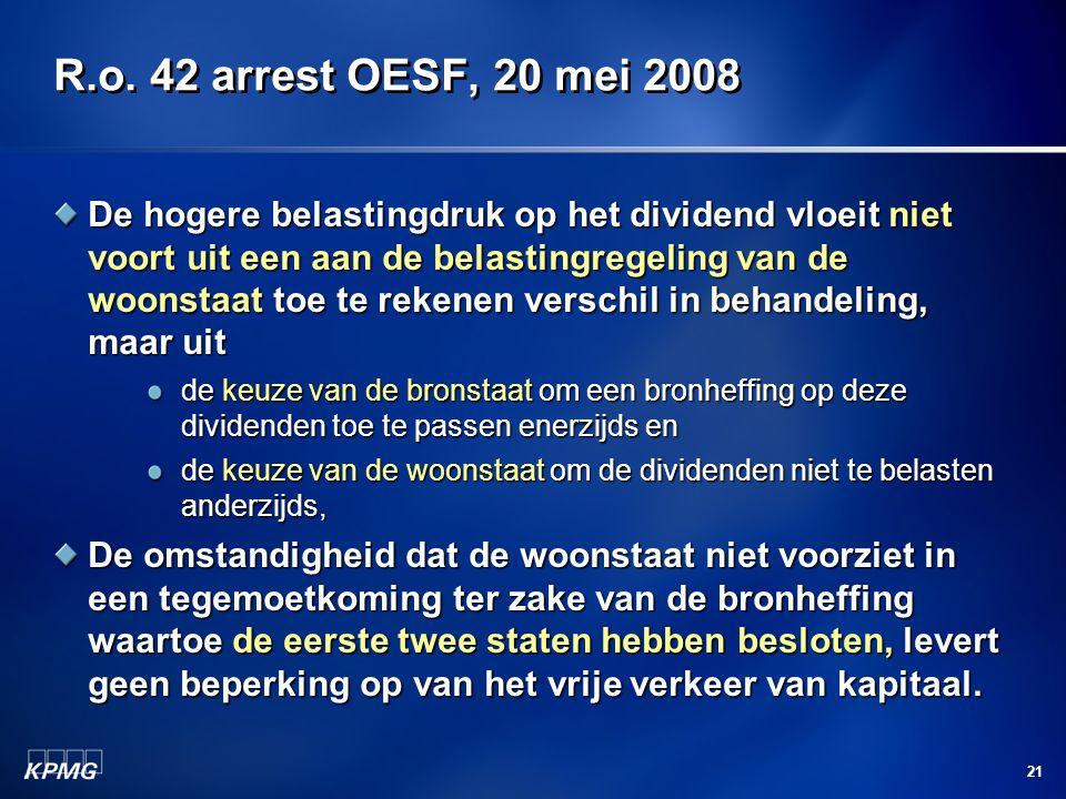 R.o. 42 arrest OESF, 20 mei 2008