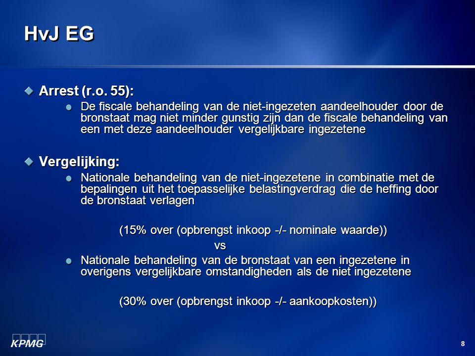 HvJ EG Arrest (r.o. 55): Vergelijking: