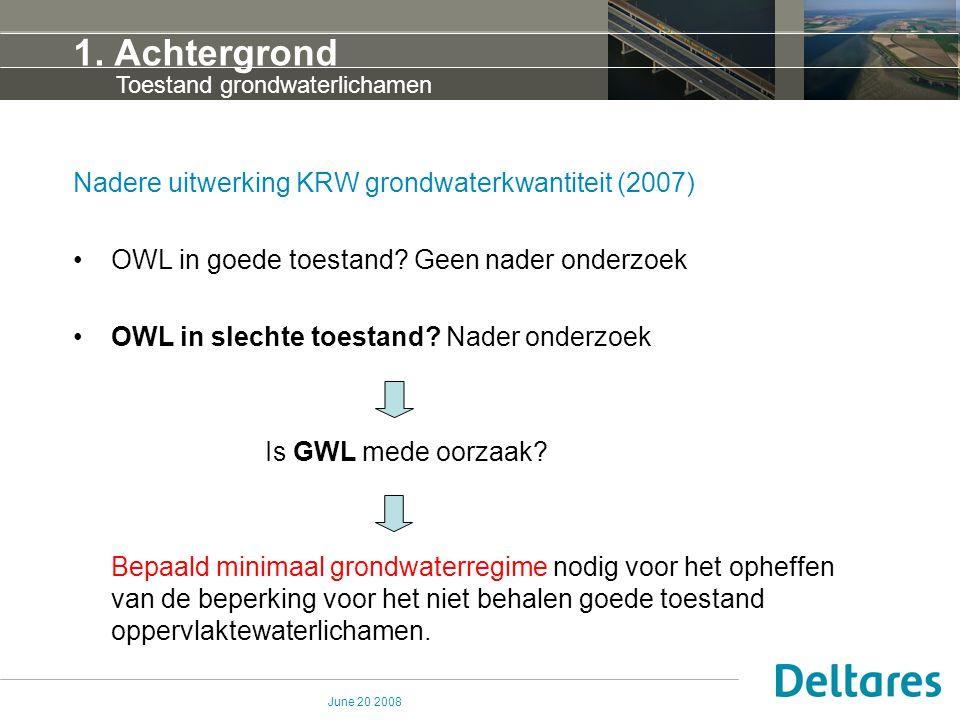 1. Achtergrond Nadere uitwerking KRW grondwaterkwantiteit (2007)