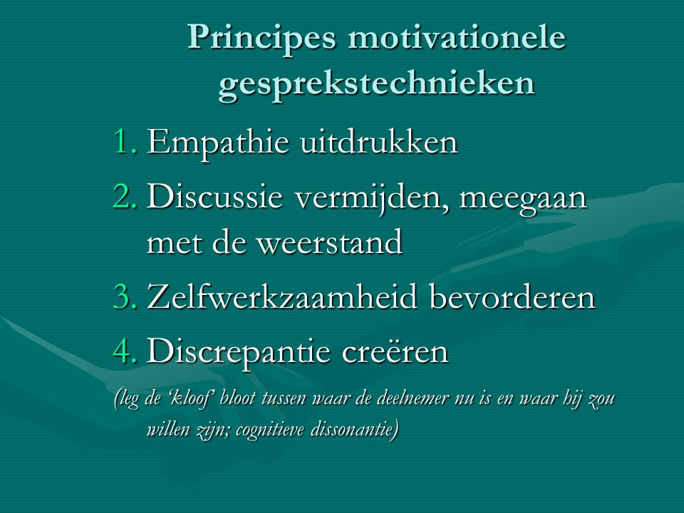 Principes motivationele gesprekstechnieken