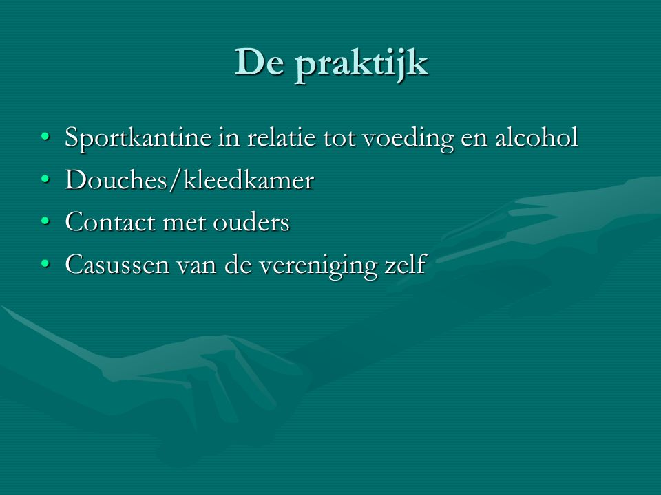 De praktijk Sportkantine in relatie tot voeding en alcohol