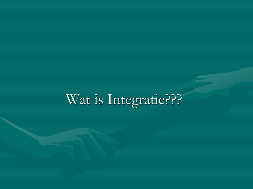 Wat is Integratie