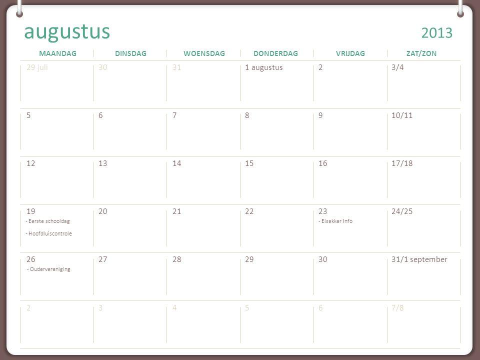 - Eerste schooldag - Hoofdluiscontrole - Elsakker Info - Oudervereniging