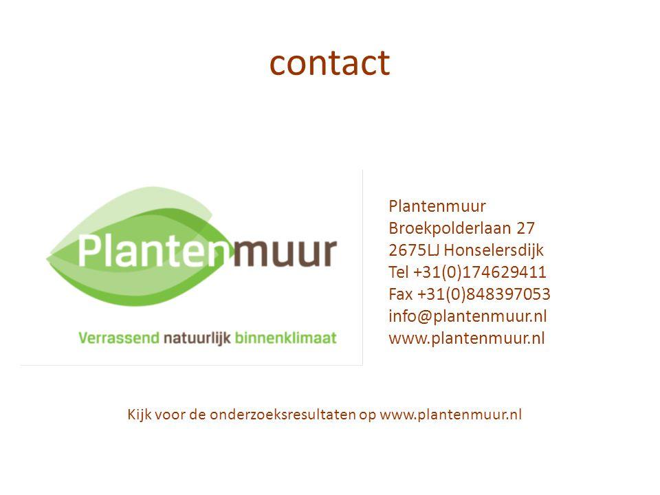 Kijk voor de onderzoeksresultaten op www.plantenmuur.nl