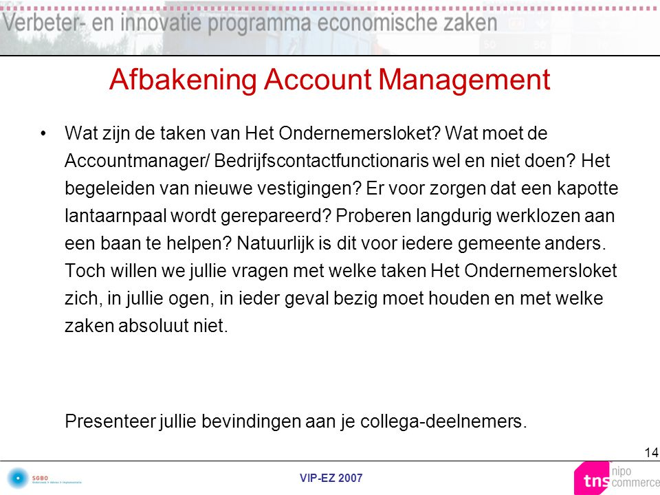 Afbakening Account Management