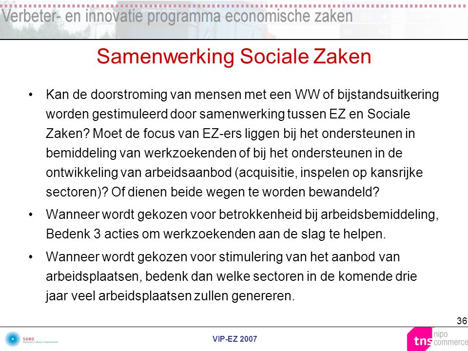 Samenwerking Sociale Zaken