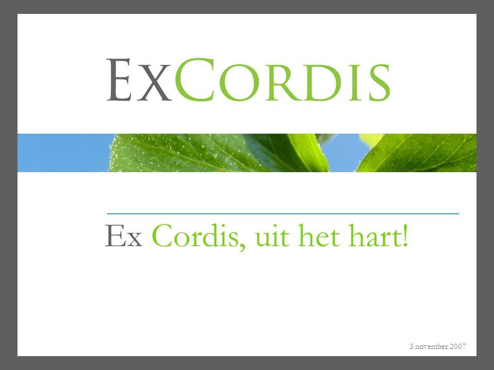 Ex Cordis, uit het hart! 3 november 2007