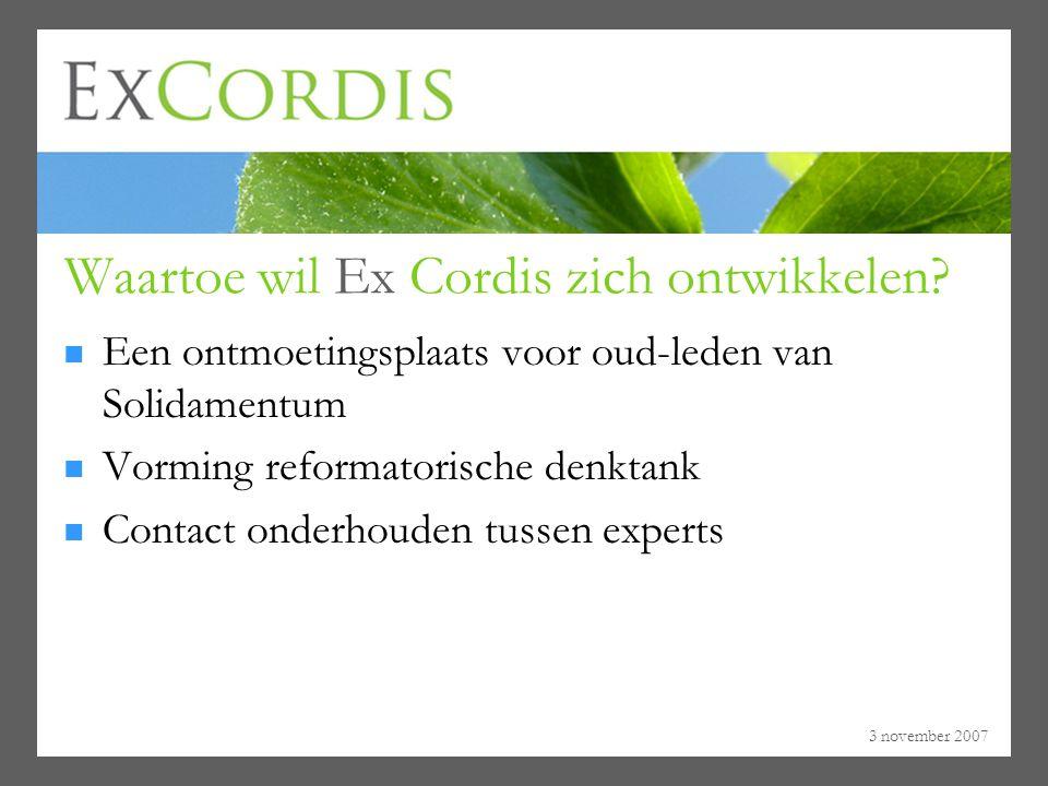 Waartoe wil Ex Cordis zich ontwikkelen