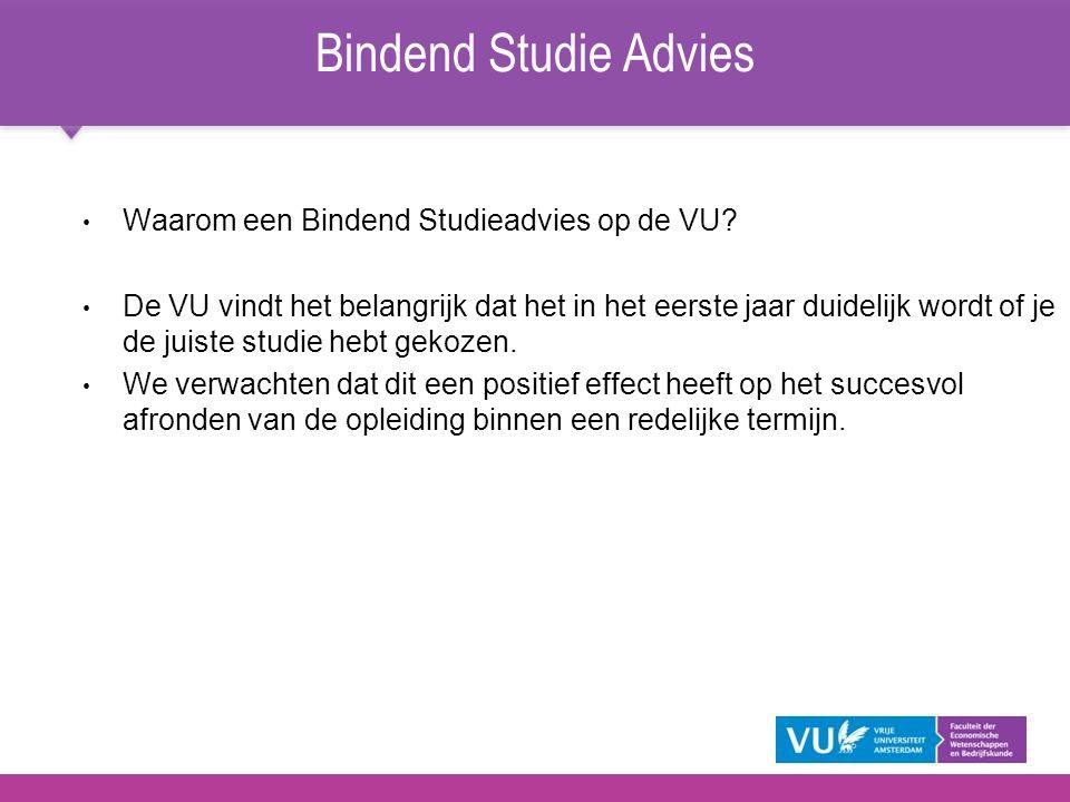 Bindend Studie Advies Waarom een Bindend Studieadvies op de VU