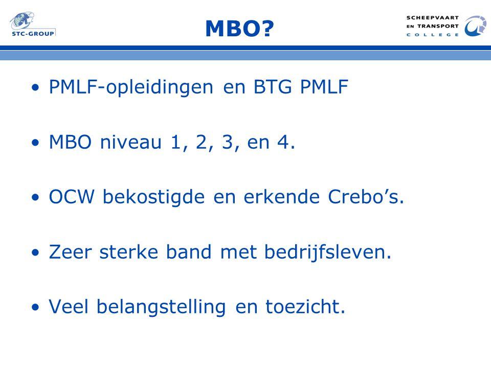MBO PMLF-opleidingen en BTG PMLF MBO niveau 1, 2, 3, en 4.