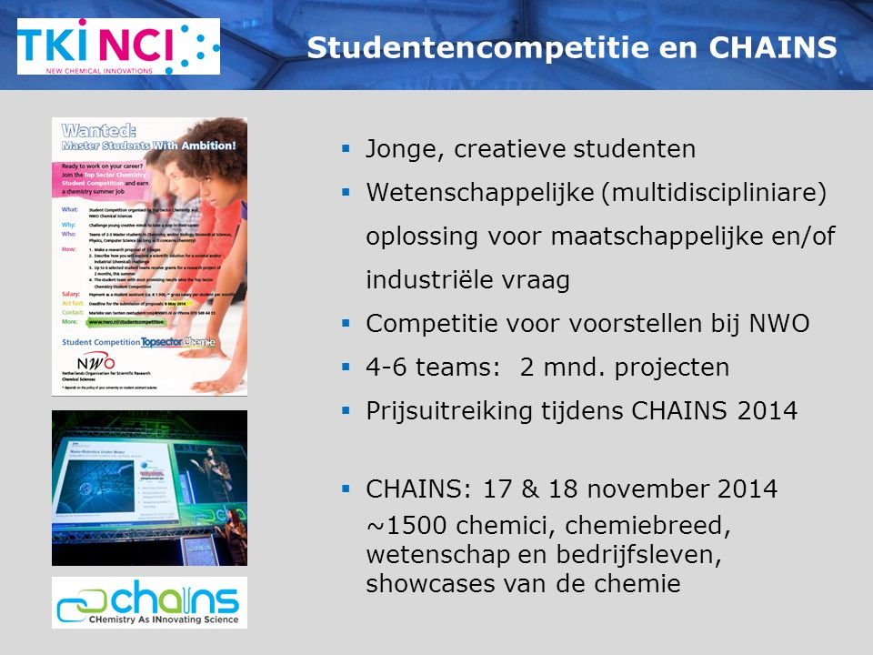 Studentencompetitie en CHAINS
