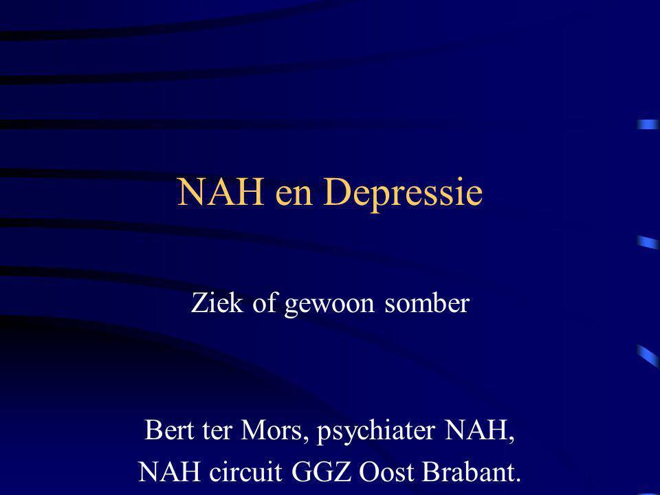 NAH en Depressie Ziek of gewoon somber Bert ter Mors, psychiater NAH,