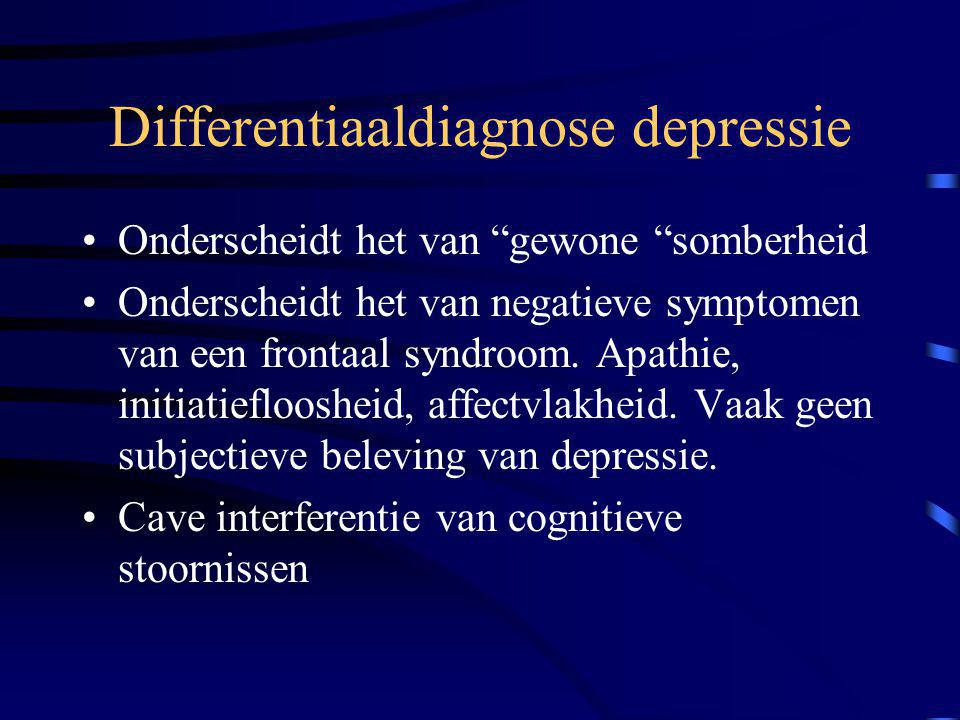 Differentiaaldiagnose depressie