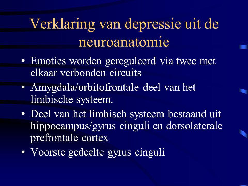 Verklaring van depressie uit de neuroanatomie