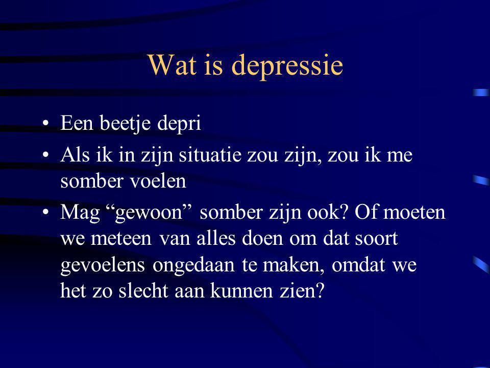 Wat is depressie Een beetje depri