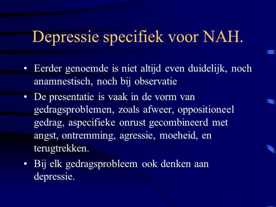 Depressie specifiek voor NAH.