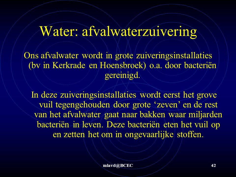 Water: afvalwaterzuivering