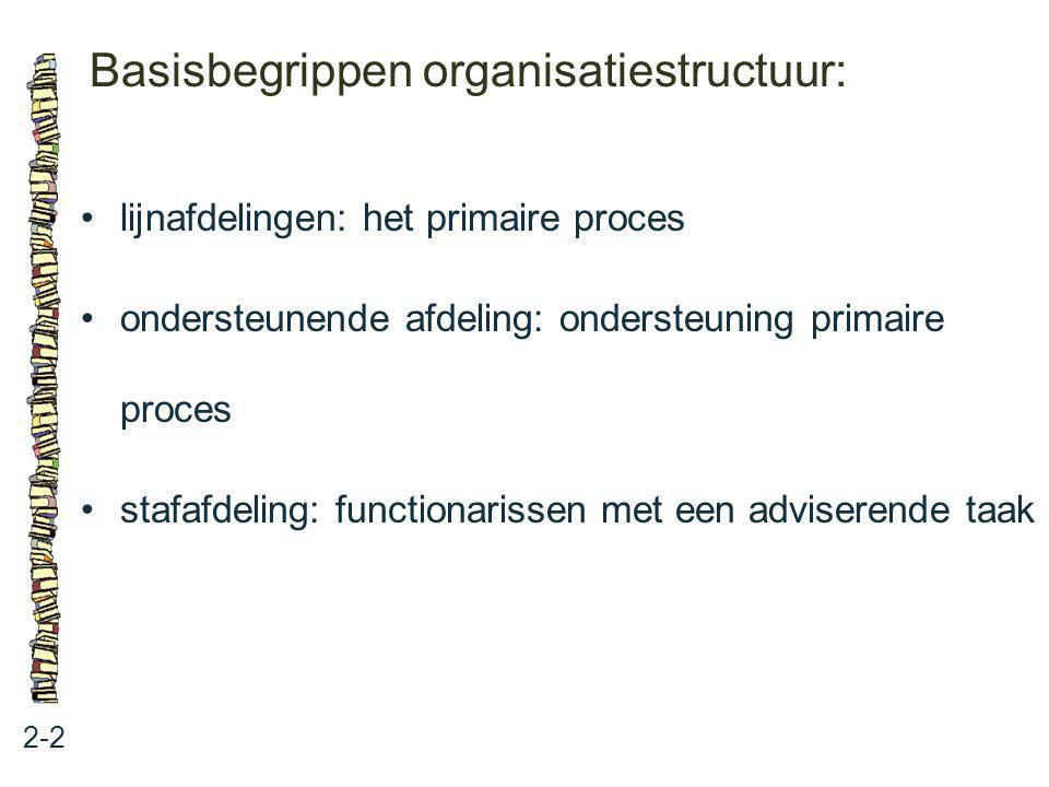 Basisbegrippen organisatiestructuur: