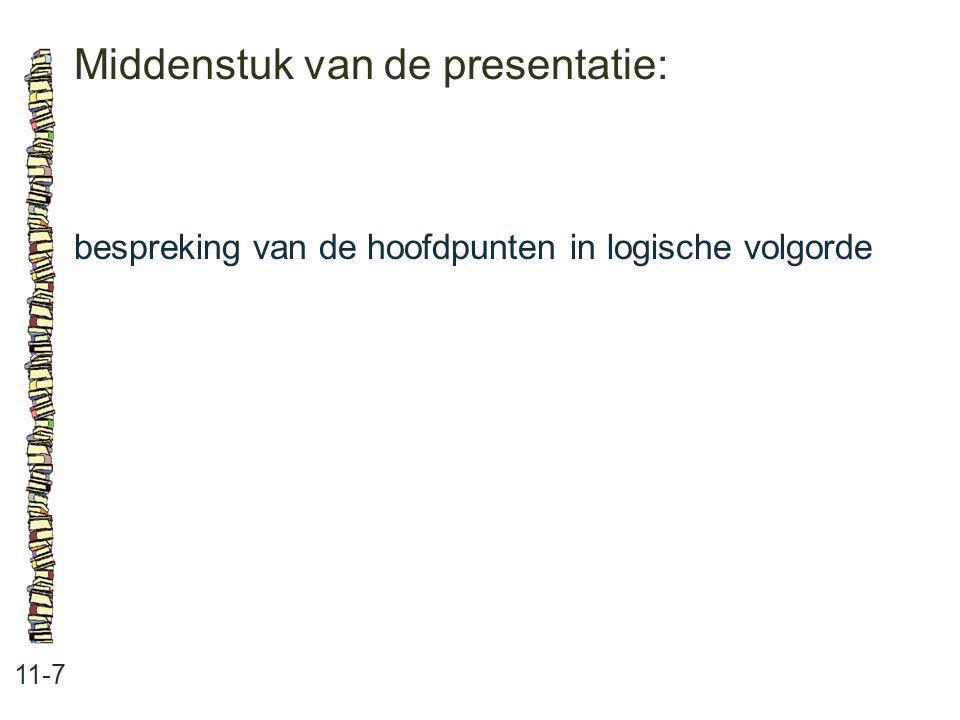 Middenstuk van de presentatie: