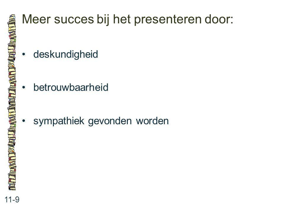Meer succes bij het presenteren door: