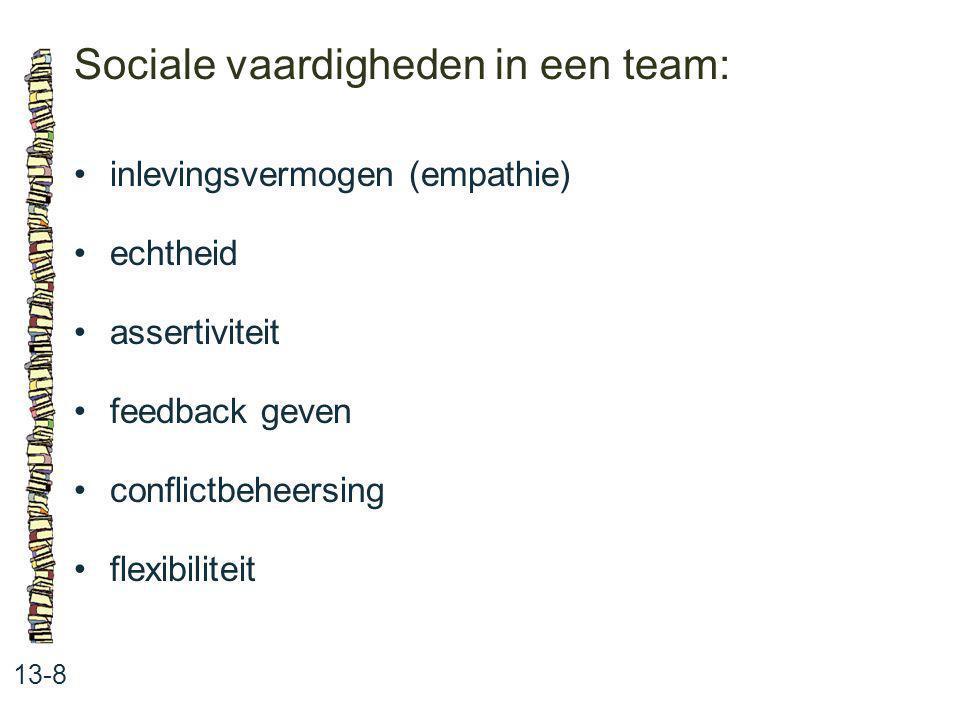 Sociale vaardigheden in een team: