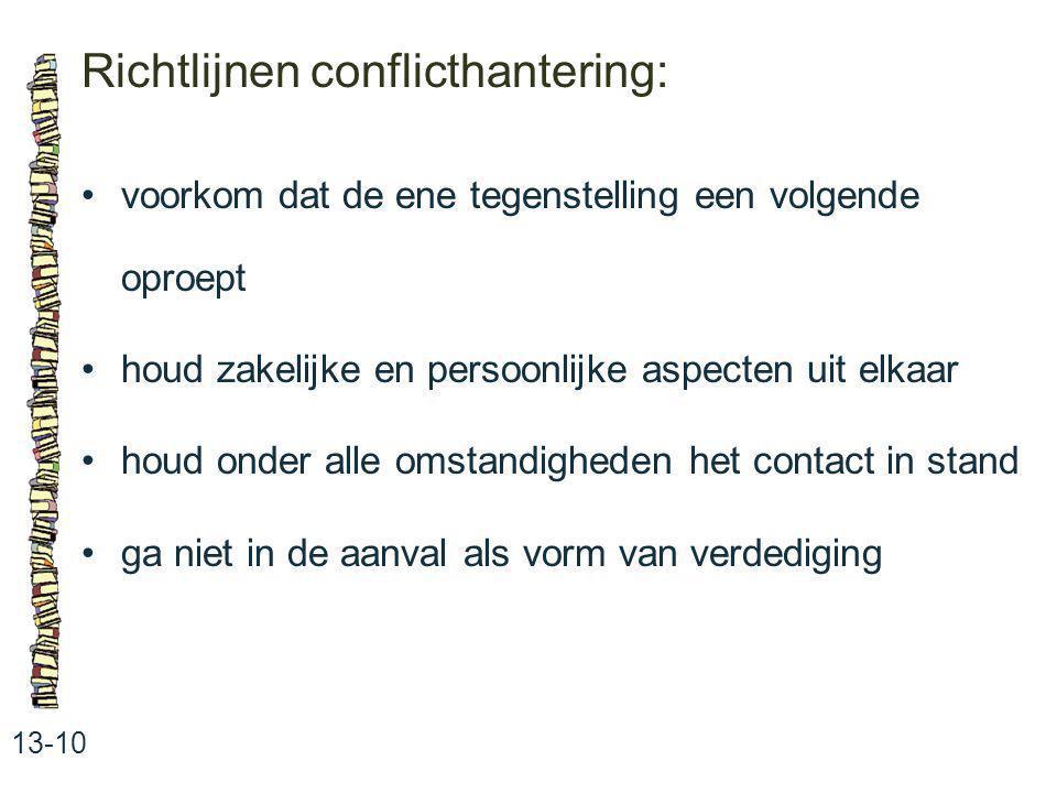 Richtlijnen conflicthantering: