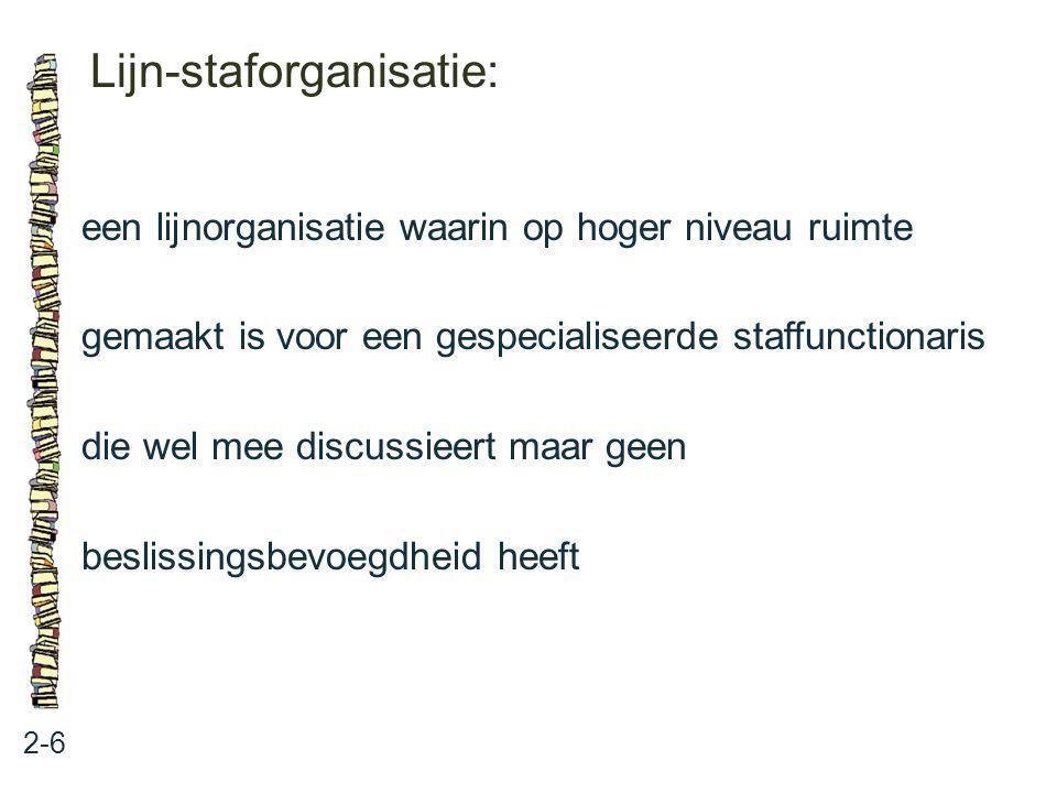 Lijn-staforganisatie: