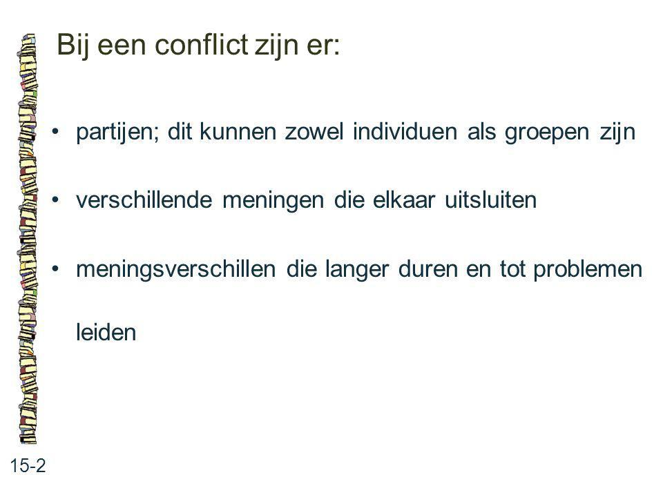 Bij een conflict zijn er: