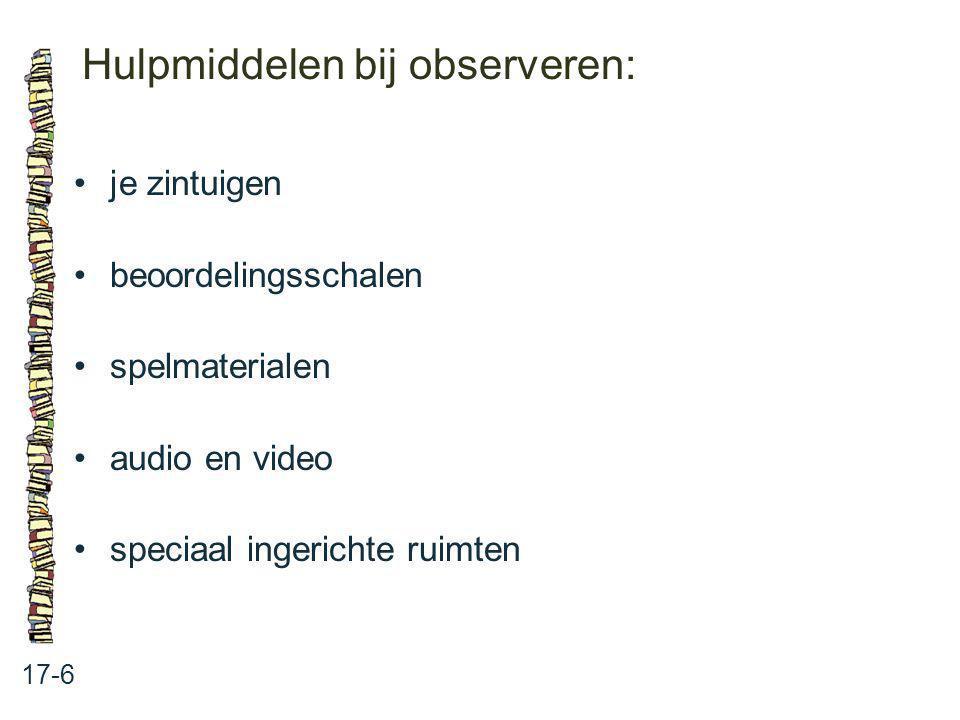 Hulpmiddelen bij observeren:
