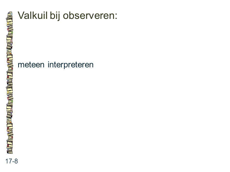 Valkuil bij observeren:
