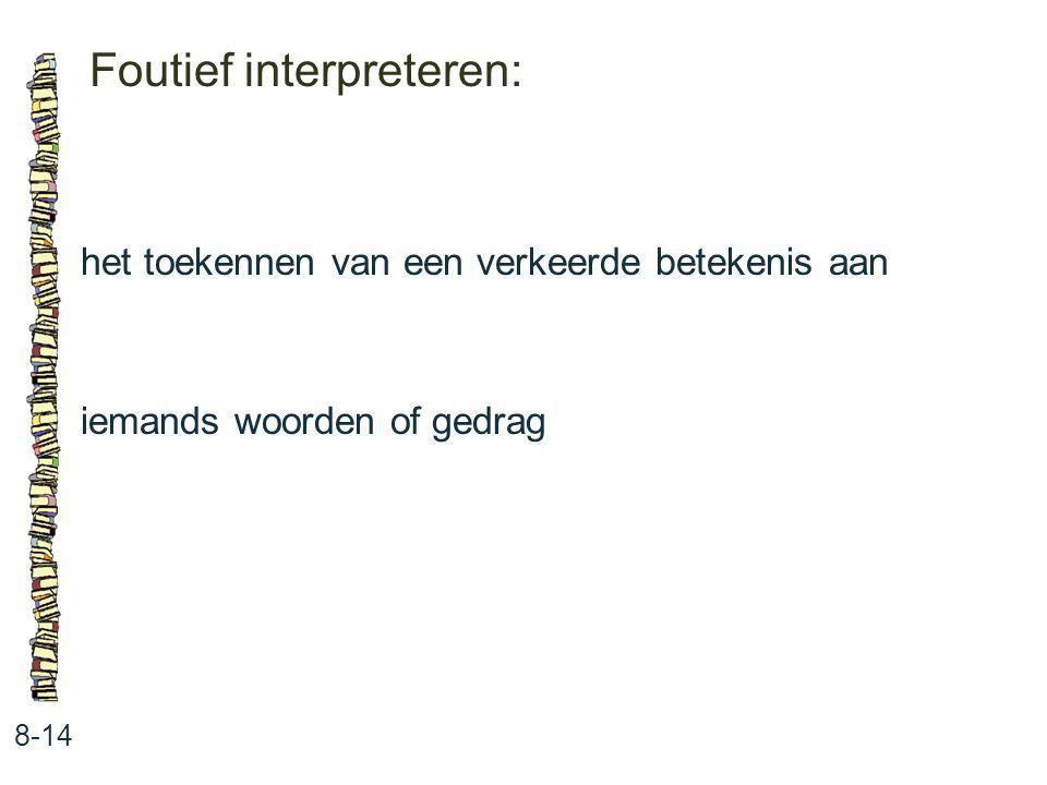 Foutief interpreteren: