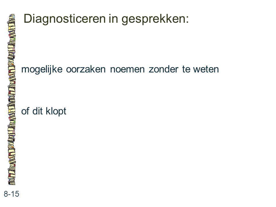 Diagnosticeren in gesprekken: