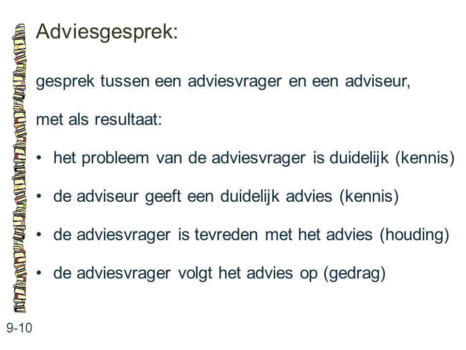 Adviesgesprek: gesprek tussen een adviesvrager en een adviseur,