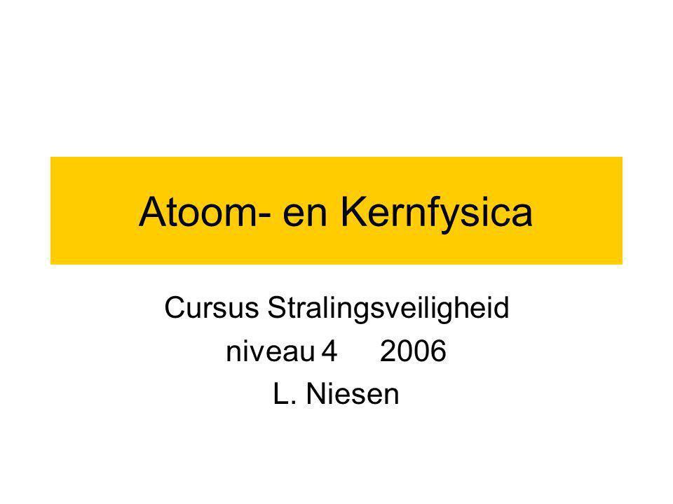 Cursus Stralingsveiligheid niveau 4 2006 L. Niesen