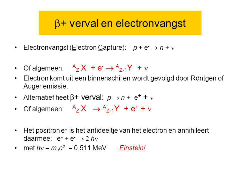 b+ verval en electronvangst