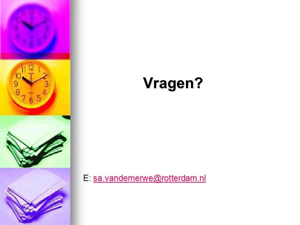 Vragen E: sa.vandemerwe@rotterdam.nl