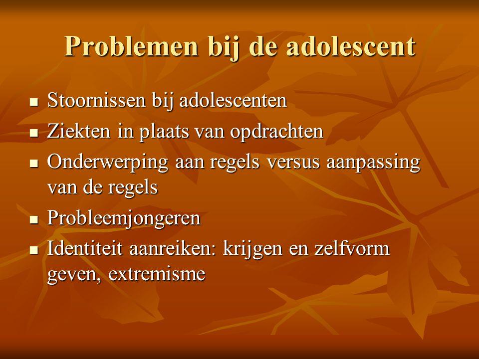Problemen bij de adolescent