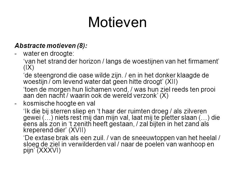Motieven Abstracte motieven (8): - water en droogte: