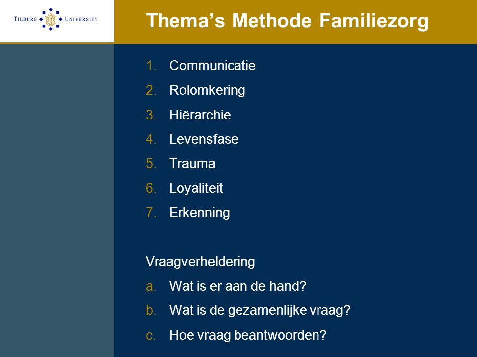 Thema's Methode Familiezorg