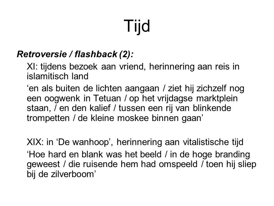 Tijd Retroversie / flashback (2):