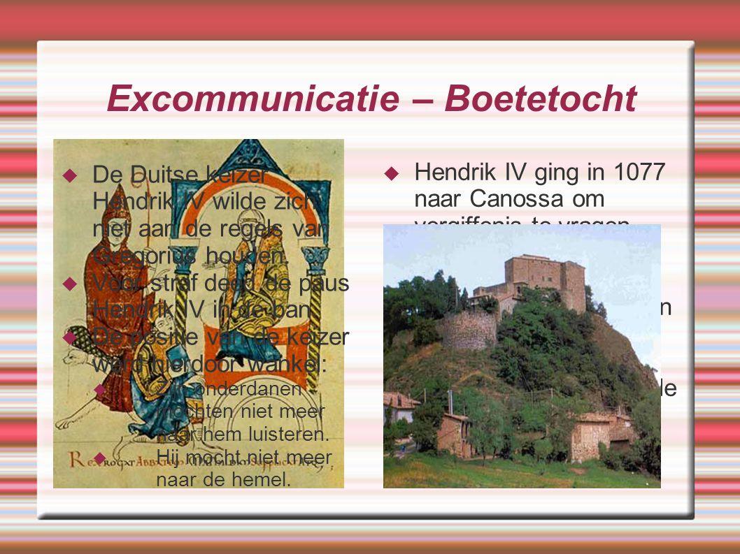 Excommunicatie – Boetetocht